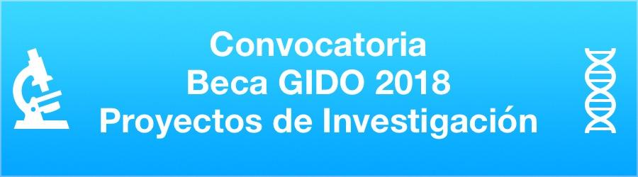Convocatoria Beca GIDO Proyecto de Investigación 2018