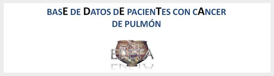 EDETA: Una Gran Base de Datos de Pacientes con Cáncer de Pulmón de la Comunidad Valenciana