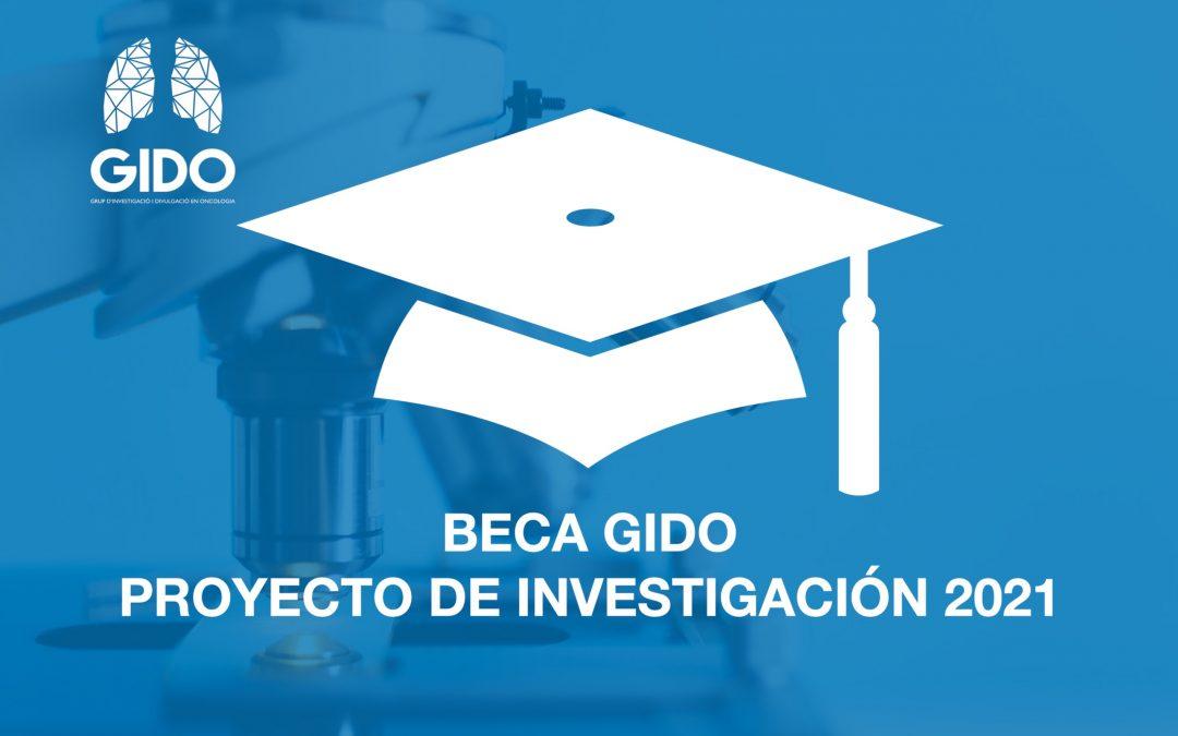 Resolución Beca GIDO Proyecto de Investigación 2021
